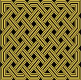 Old Gold Celtic Knot on black background Royalty Free Stock Photo