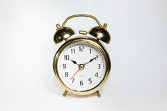 The old gold Clock (10:10AM) Stock Photography