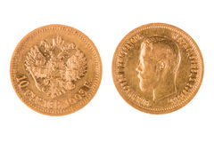 Old gold coin of Russia Royalty Free Stock Photos