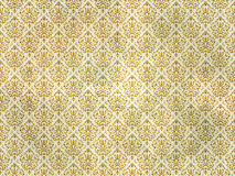 Old gold damask wallpaper Stock Photography
