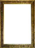 Old gold frame. Old antique gold frame over white background Royalty Free Stock Photo