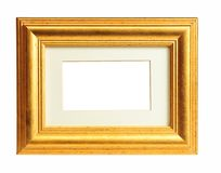 Old gold frame Stock Images