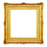 Old gold frame border Royalty Free Stock Images