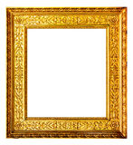 Old gold frame isolated on white Stock Image
