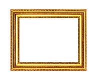 Old gold frame isolated Stock Photos