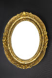 Old Gold Frame - Oval Stock Photo