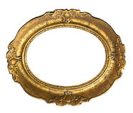 Old Gold Frame - Oval Royalty Free Stock Images