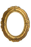 Old Gold Frame - Oval Stock Photos