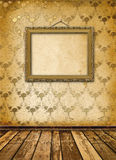Old gold frames Victorian style Royalty Free Stock Image