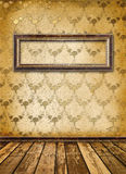 Old gold frames Victorian style Stock Image