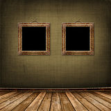 Old gold frames Victorian style Stock Images