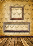 Old gold frames Victorian style on the wall Stock Image