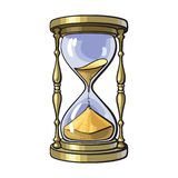 Old gold hourglass vector illustration