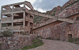 Old gold mine. Former gold mine in Rodalquilar, Cabo de Gata Royalty Free Stock Photography