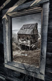 Old gold mine in Colorado, view out of the window Stock Image