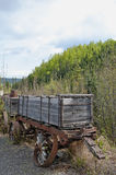 Old gold mine ore cars. Old gold mining ore cars in Fairbanks, Alaska Royalty Free Stock Photo