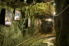 Old gold mine shaft in Zloty Stok. Stock Photos