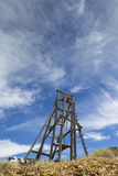 Old gold mining head frame lift in Nevada Stock Images