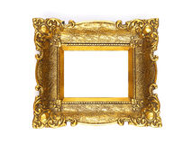 Old Gold Picture Frame Royalty Free Stock Images
