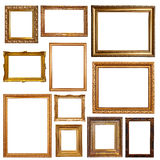 Old gold picture  frames Royalty Free Stock Photo