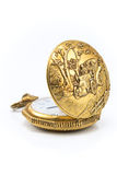 Old gold pocket watch Stock Photography
