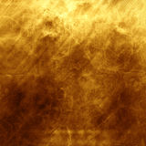 Old gold polished metal texture for design or background. Golden polished metal or steel texture for background Stock Photography
