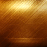 Old gold polished metal texture for design or background Stock Images