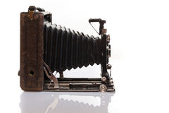 Old but gold Pre historical photo camera Royalty Free Stock Image