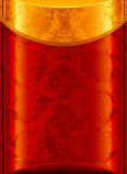 Old Gold and Red background. Computer illustration, isolated on the white Royalty Free Stock Image