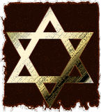 Old Gold Star Of David Royalty Free Stock Photos