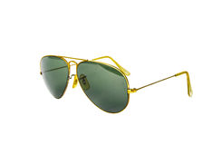 Old gold sunglasses isolate Stock Image