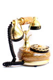Old gold telephone. Old telephone on white background,Telecommunication, Media Technologies Royalty Free Stock Photography