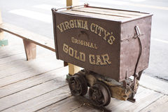 Old Gold Wagon Royalty Free Stock Photos
