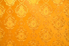 Old gold wallpaper Royalty Free Stock Photo