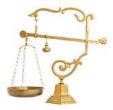Old golden balance Royalty Free Stock Image