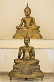 Old golden buddha statue Stock Images