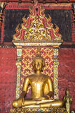 Old Golden Buddha Statue In Chapel Royalty Free Stock Photo