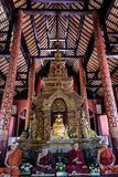 Old golden buddha statue Royalty Free Stock Images
