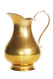Old golden carafe Stock Images