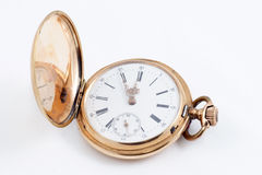 Old golden clock Stock Image