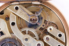 Old golden clock Royalty Free Stock Image