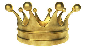 Old golden crown Stock Images
