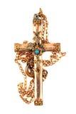 Old golden crucifix Stock Photos
