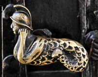 Old golden door handle Royalty Free Stock Photography