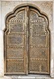 Old Golden Doors of the Hawa Mahal. Stock Photos