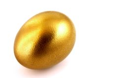 Old golden easter egg Stock Photos