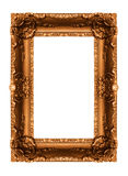 Old golden frame. On the white background Stock Photography