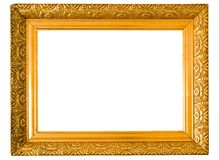 Old golden frame Stock Image