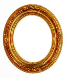 Old golden frame. Ornamented, very old, gold plated empty picture frame for putting your pictures in Stock Photos