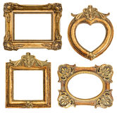 Old golden frame. antique object. Old golden frames for your picture, phiti, image. antique object. vintage background Royalty Free Stock Images